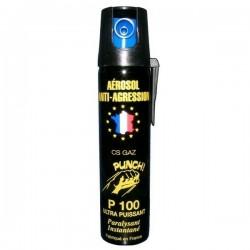 Bombe lacrymogène 75ml GAZ PUNCH P100
