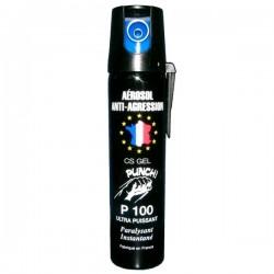 Bombe lacrymogène 75ml GEL PUNCH P100