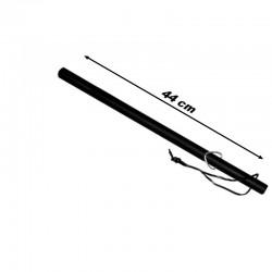 Matraque bâton caoutchouc avec dragonne cuir de 44 cm