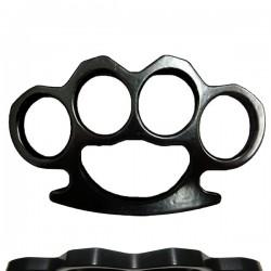 Poing americain self defense noir 9mm + Etui ceinture