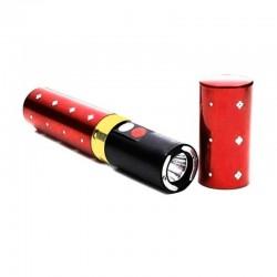 Shocker taser électrique modèle discret 2 Millions Volts rouge avec Lampe LED