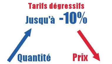 tarifs dégressifs