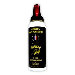 Bombe lacrymogène 100ml GAZ PUNCH P100