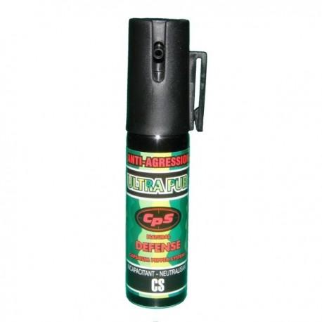 Bombe lacrymogène 25ml ULTRAPUR CPS POIVRE