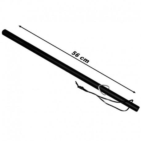 Matraque bâton caoutchouc avec dragonne cuir de 56 cm - à partir de 5€