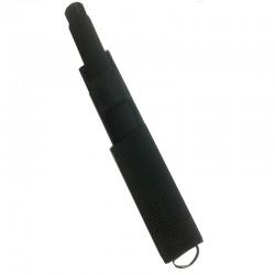 Matraque télescopique 53 cm NOIRE en Acier livré manche mousse avec Étui