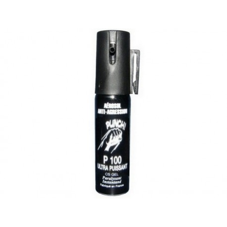 Bombe lacrymogène 25ml GEL PUNCH P100